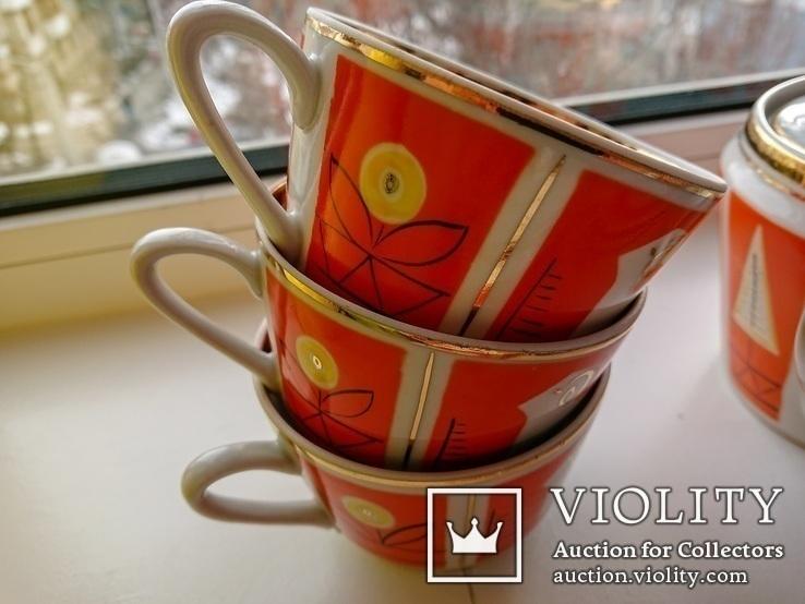 Чайный сервиз на 6 персон. Полонное, 1960-1970-е, фото №4