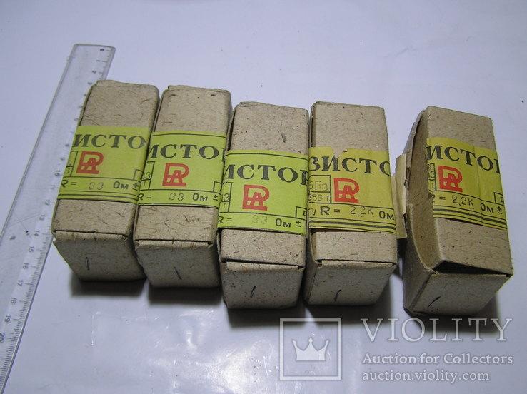 Резисторы переменные ППБ-25Г-13. 5 штук. Новые.
