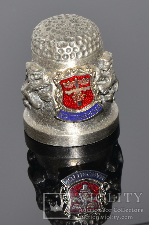 Коллекционный оловянный наперсток с гербом, фото №5