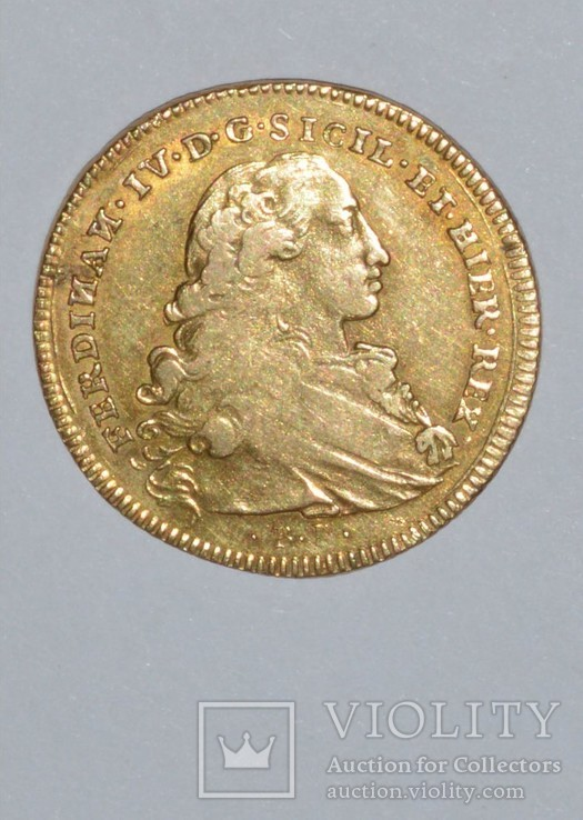 Шесть дукатов 1760. Фердинанд Четвертыйй, фото №3