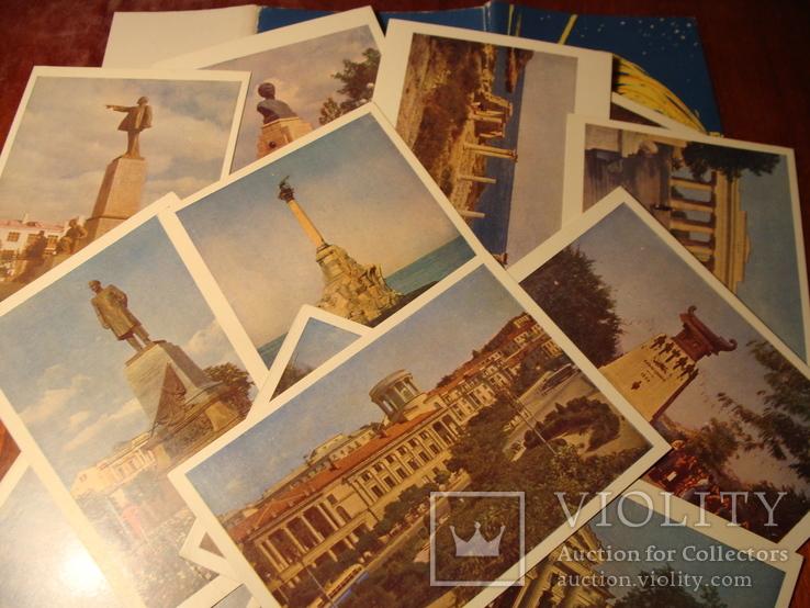 1962г. Набор открыток  поштова листівка Севастополь комплект 14 штук УССР фото Т. Бакман, фото №2