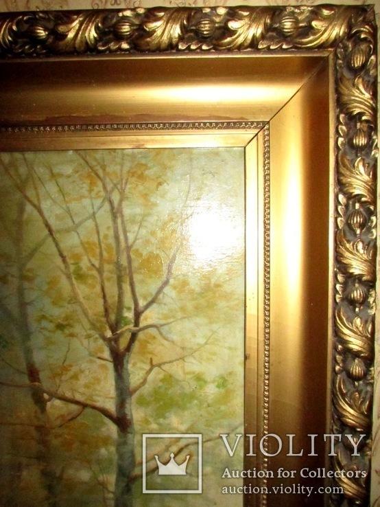 Антикварна картина Українська Джульєтта(пастораль) в розкішній рамі, фото №7