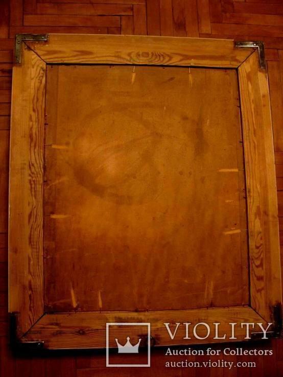 Антикварна картина Українська Джульєтта(пастораль) в розкішній рамі, фото №13