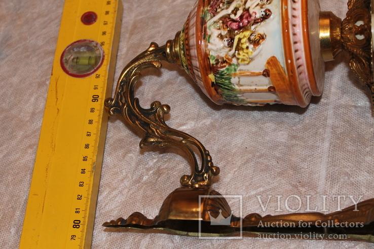Бра бронза Каподимонте (2), фото №4