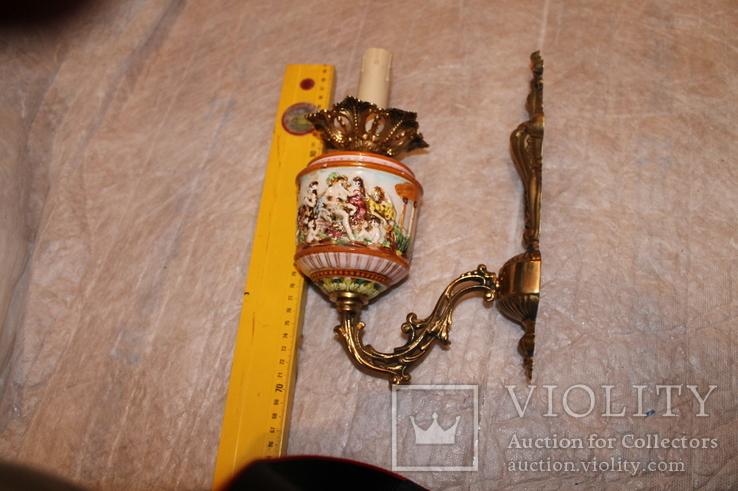 Бра бронза Каподимонте (2), фото №5