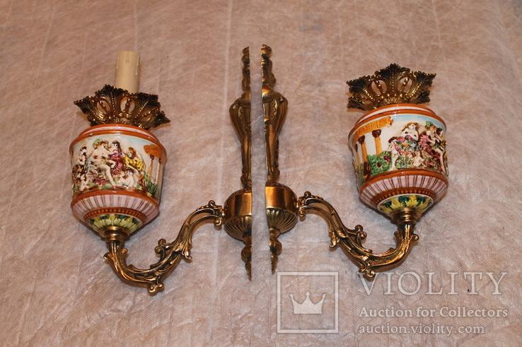 Бра бронза Каподимонте (2), фото №9