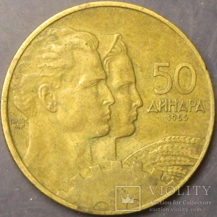 50 динарів Югославія 1955, фото №2