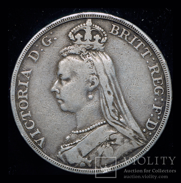 Великобритания крона 1890 серебро