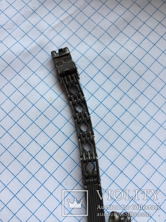 Браслет для часов, серебро 875 ЛФ8, фото №4