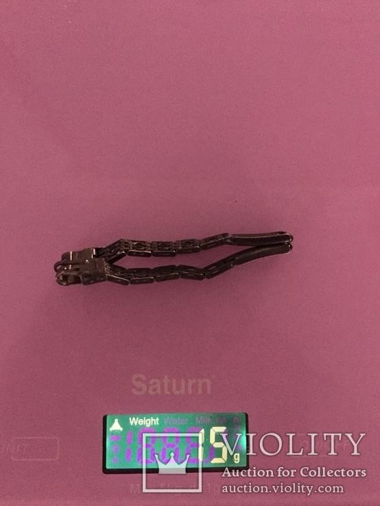 Браслет для часов, серебро 875 ЛФ8, фото №7
