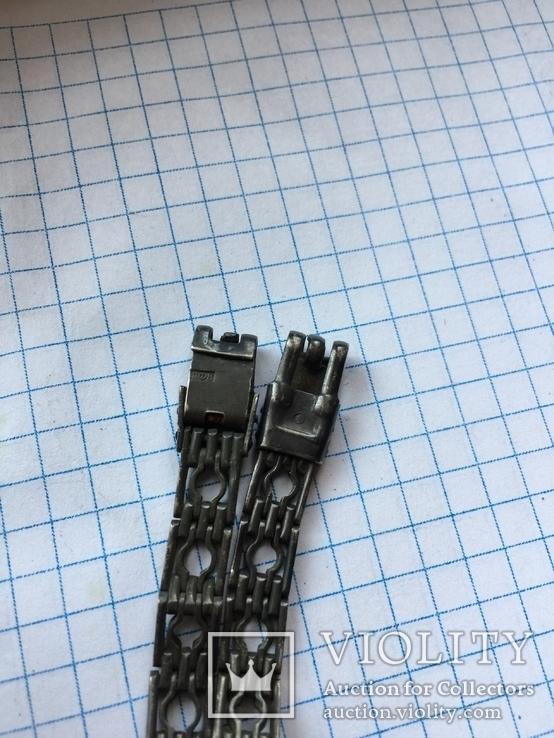 Браслет для часов, серебро 875 ЛФ8, фото №8