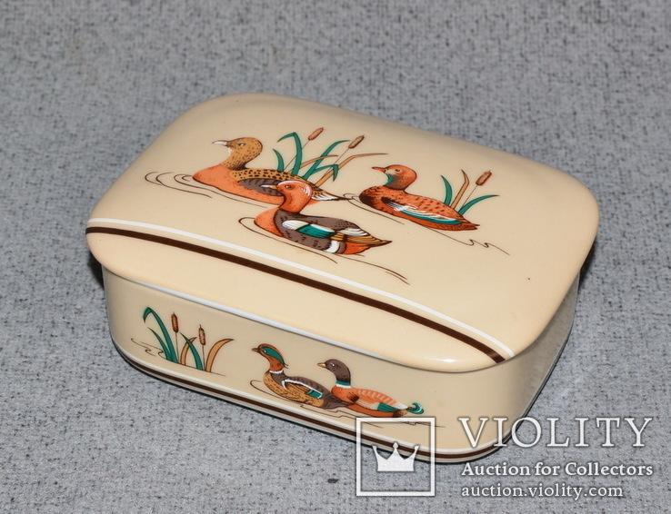 Шкатулка из Японского фарфора. Утки, фото №3