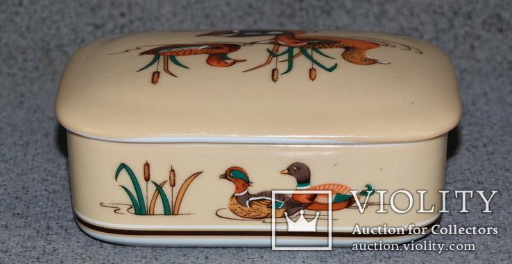 Шкатулка из Японского фарфора. Утки, фото №6