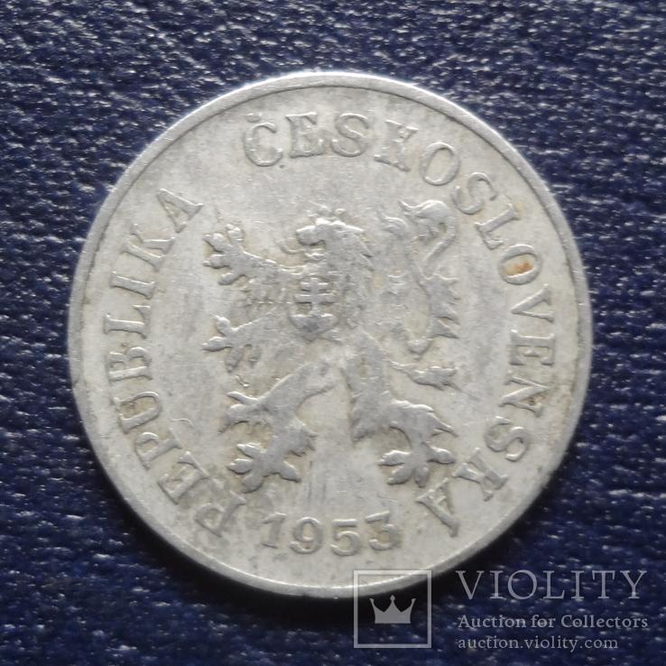 5 геллеров  1953  Чехословакия    (N.5.1)~, фото №3