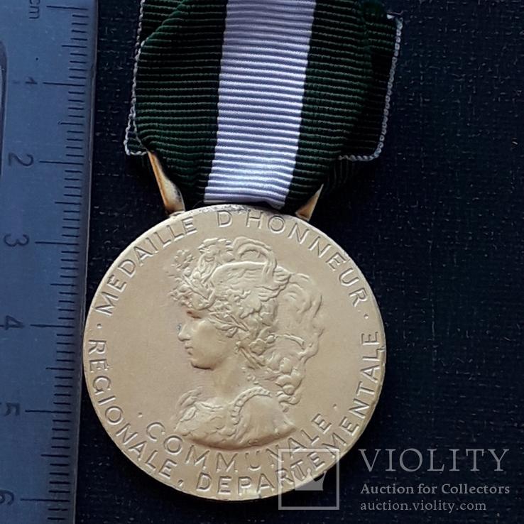 Региональная, Ведомственная, Коммунальная Почётная медаль, Франция, серебро, 20+ грамм