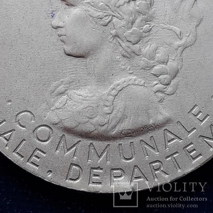 Региональная, Ведомственная, Коммунальная Почётная медаль, Франция, серебро, 20+ грамм, фото №5