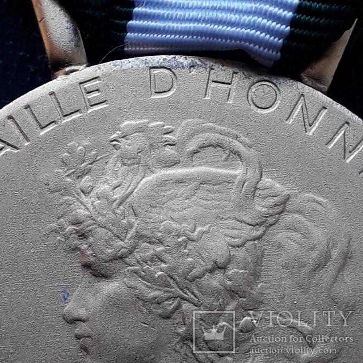 Региональная, Ведомственная, Коммунальная Почётная медаль, Франция, серебро, 20+ грамм, фото №6