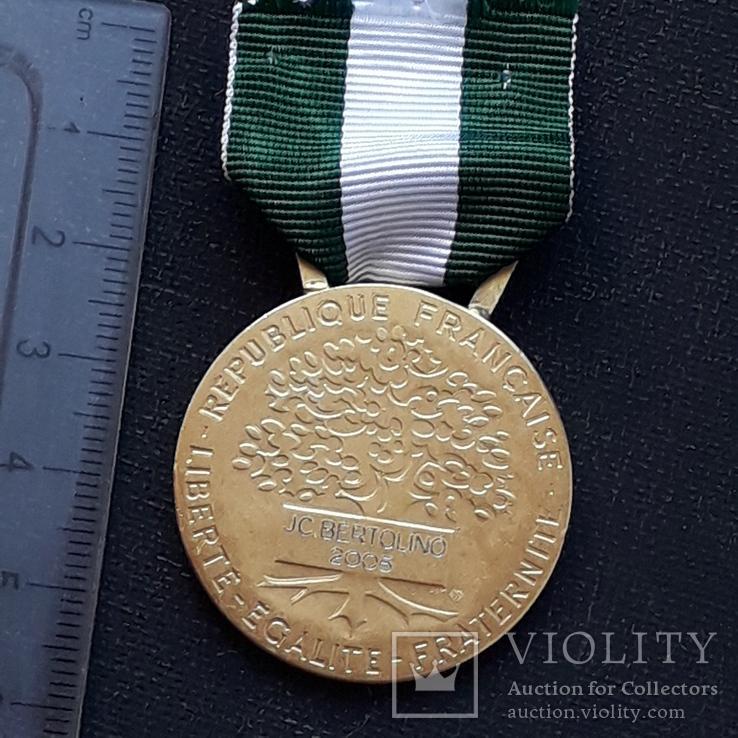 Региональная, Ведомственная, Коммунальная Почётная медаль, Франция, серебро, 20+ грамм, фото №8