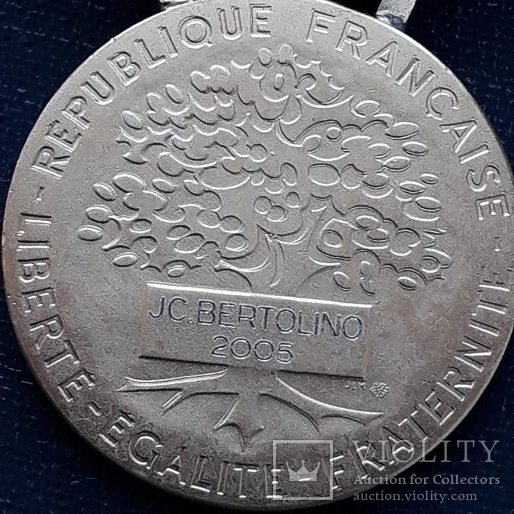 Региональная, Ведомственная, Коммунальная Почётная медаль, Франция, серебро, 20+ грамм, фото №9