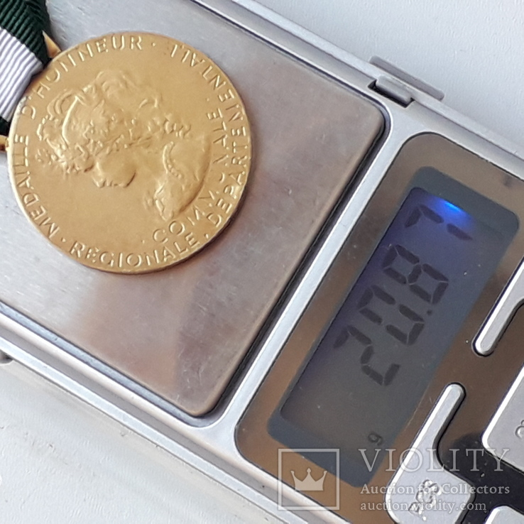 Региональная, Ведомственная, Коммунальная Почётная медаль, Франция, серебро, 20+ грамм, фото №13