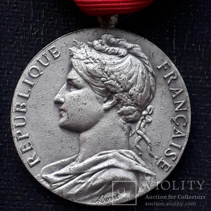 Франция, Почётная Медаль Труда, серебро, 10- грамм, фото №3