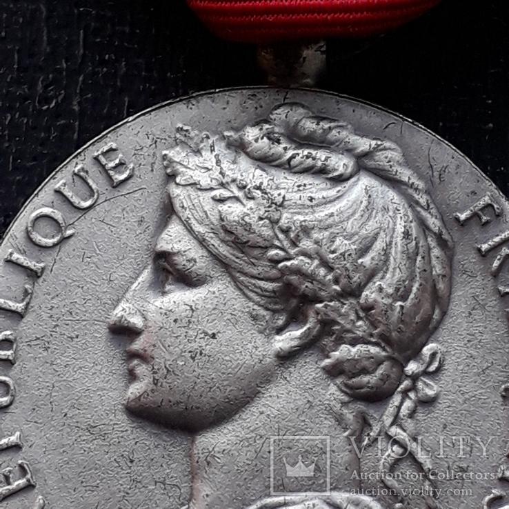 Франция, Почётная Медаль Труда, серебро, 10- грамм, фото №5