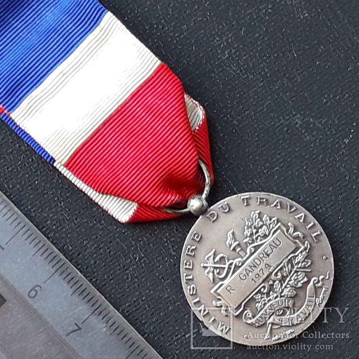 Франция, Почётная Медаль Труда, серебро, 10- грамм, фото №8