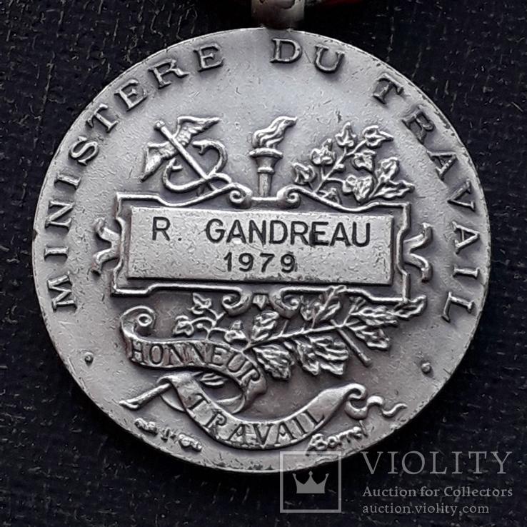 Франция, Почётная Медаль Труда, серебро, 10- грамм, фото №9