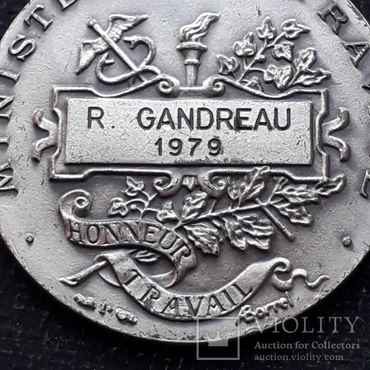 Франция, Почётная Медаль Труда, серебро, 10- грамм, фото №10