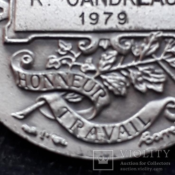 Франция, Почётная Медаль Труда, серебро, 10- грамм, фото №12
