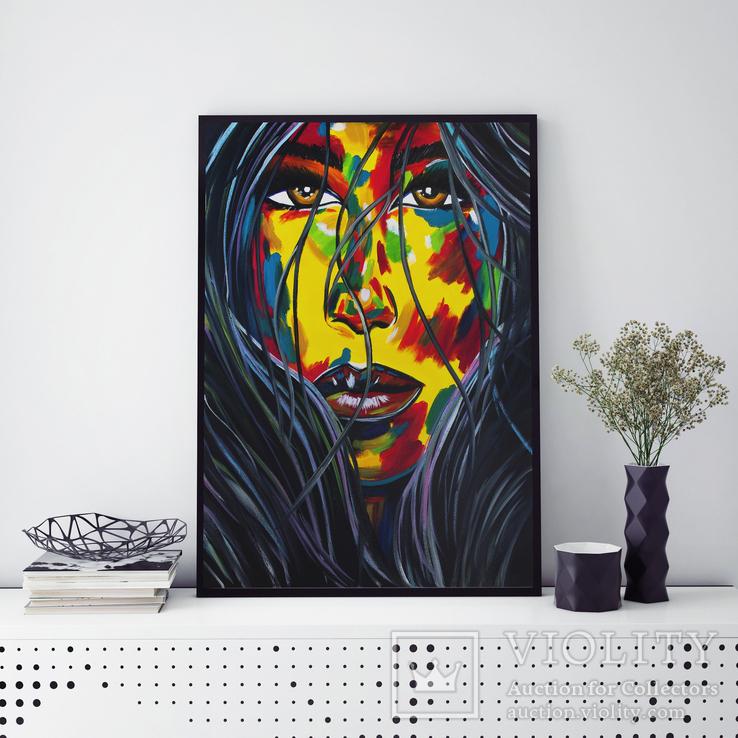 Портрет девушки (масло/холст) 60х80 см, фото №3