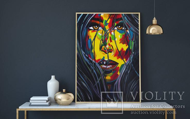 Портрет девушки (масло/холст) 60х80 см, фото №5