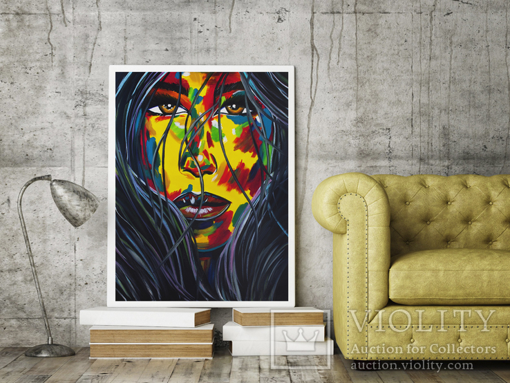 Портрет девушки (масло/холст) 60х80 см, фото №6