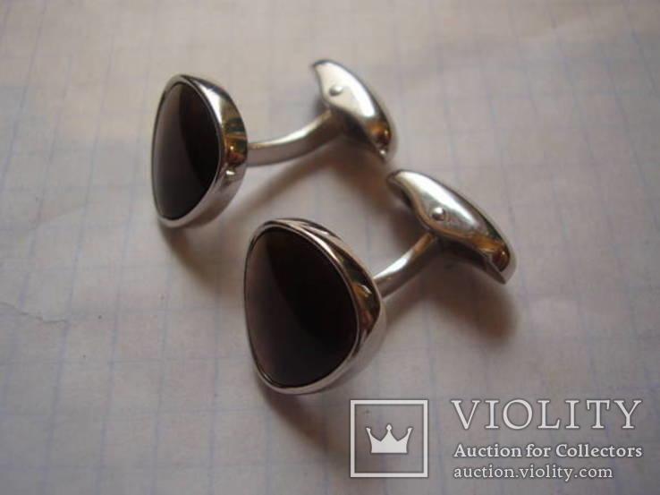 """Брендовые запонки """"Victor Mayer"""", Германия, белое золото 18 Карат (750), фото №5"""