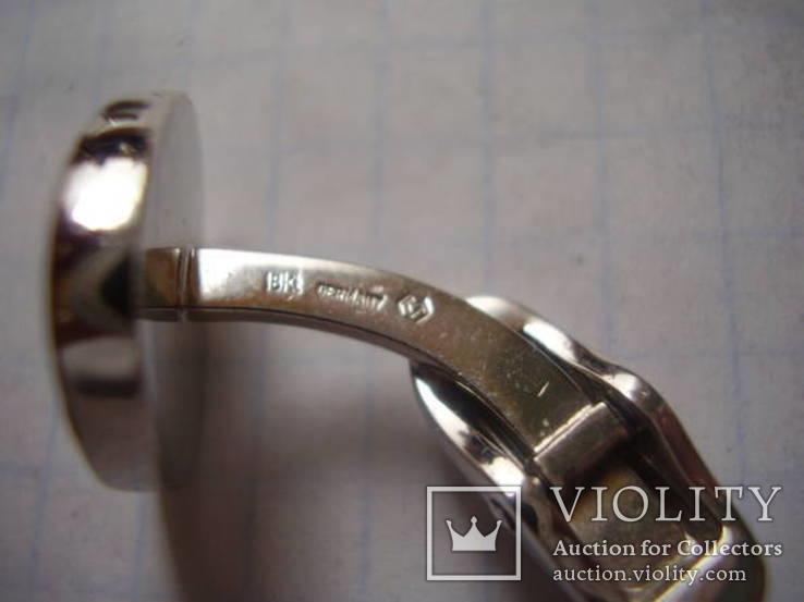 """Брендовые запонки """"Victor Mayer"""", Германия, белое золото 18 Карат (750), фото №7"""