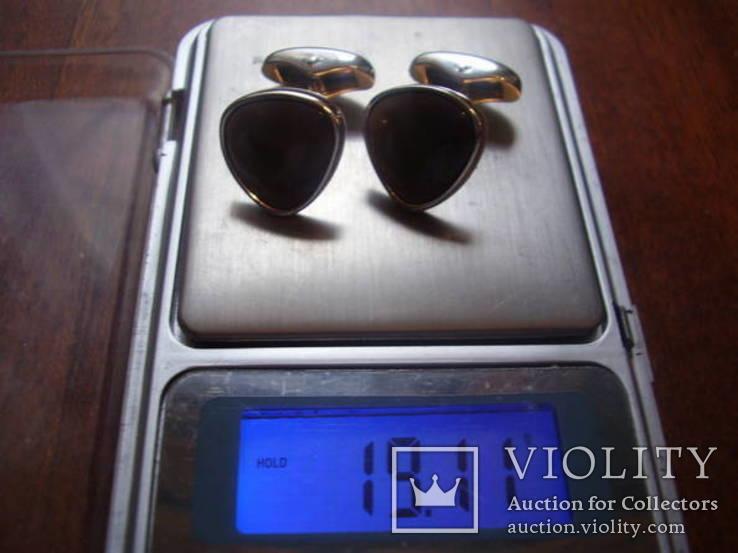 """Брендовые запонки """"Victor Mayer"""", Германия, белое золото 18 Карат (750), фото №9"""