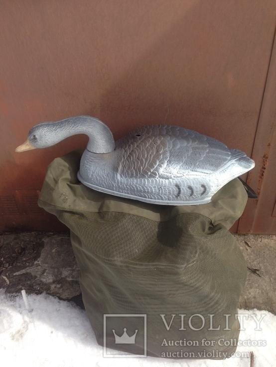 Пластиковые чучела гусей для охоты. ИТАЛИЯ, фото №4