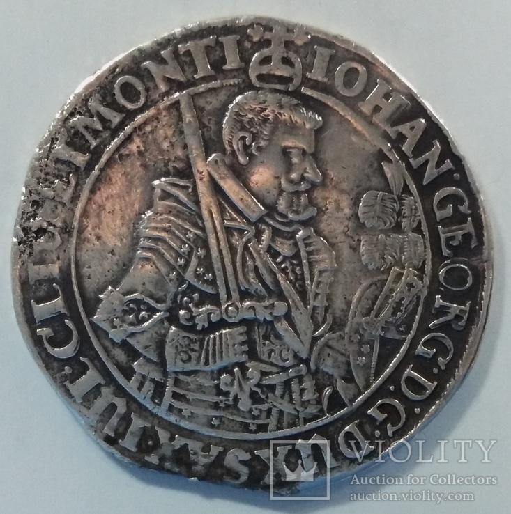 Талер 1638г. Саксония.Иоганн Георг I(1611-1656).