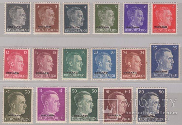Рейх Оккупация Остланда. Портрет А. Гитлера, фото №2