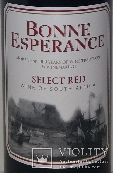 Вино Bonne Esperance Select Red, Южная Африка, фото №3