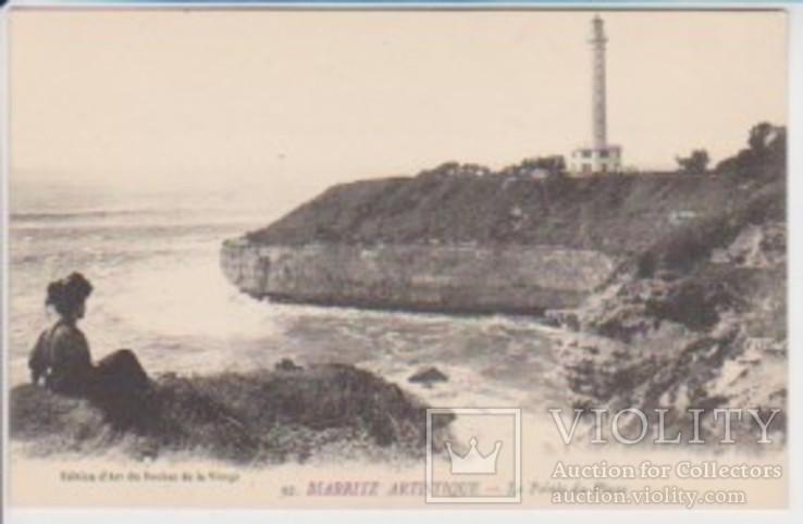 """Открытка """"92. Biarritz Artistique - La Pointe du Phare"""", фото №2"""