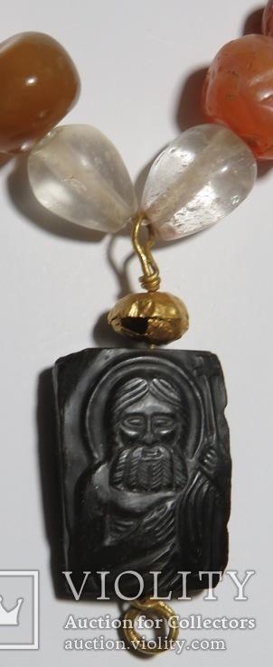 Византийская вервица( чётки) с камеей '' Иоанн  Креститель.''