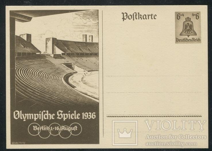 1936 Рейх открытка олимпиада