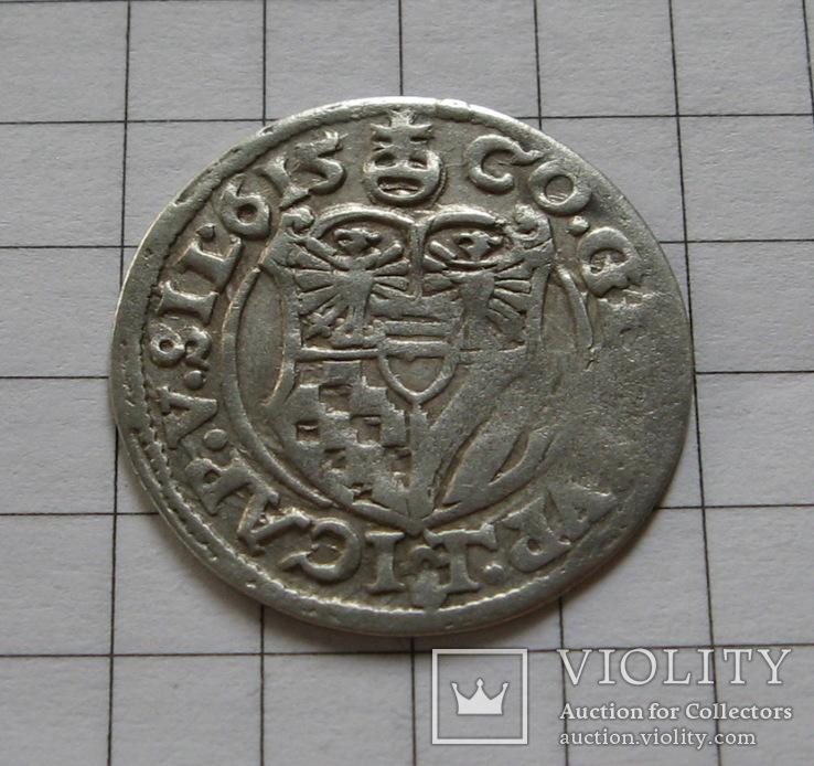 Герцогство Мюнстерберг-Ольс, тройной крейцер 1615 года.