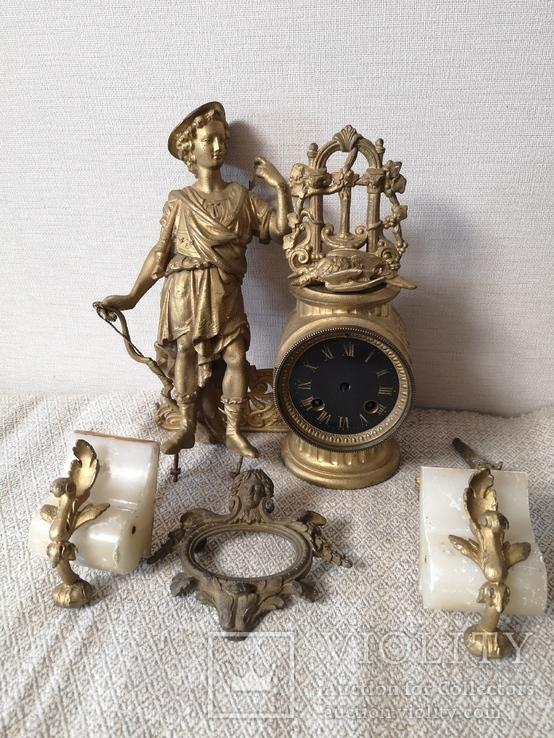 Накамінний годинник Франція 19ст., фото №2
