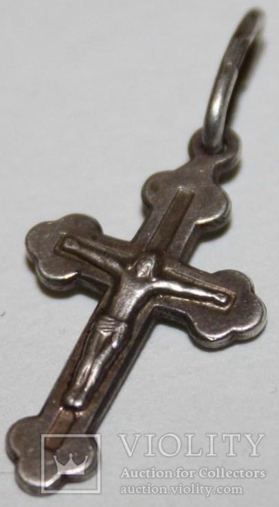 Серебрянный православный крестик (трезубец,925 проба,ЧКК) Украина, фото №3