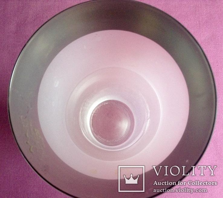Ваза для цветов Благородная. Молочное стекло. Богемия., фото №6