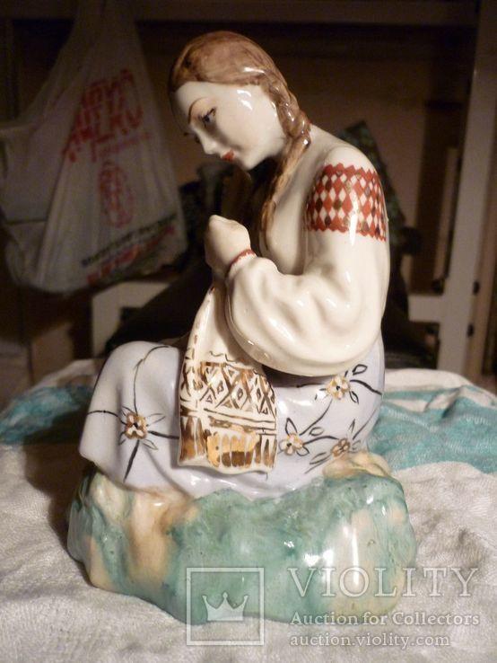 Вышивальщица старый Киев клеймо периода 1954-1959 годов, фото №3