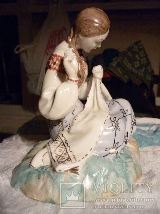 Вышивальщица старый Киев клеймо периода 1954-1959 годов, фото №6