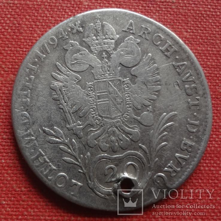 20 крейцеров 1794 Австрия серебро (S.9.10)~, фото №2